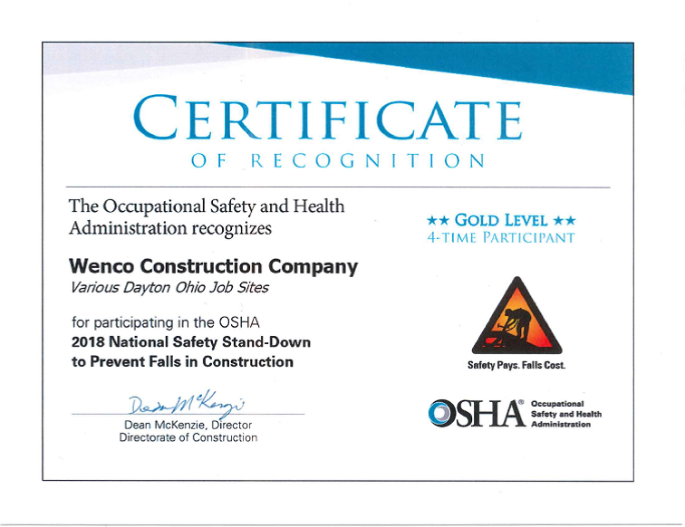 WENCO Is Serious About Safety.